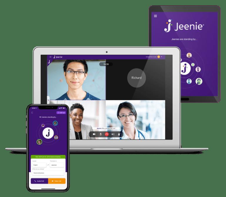 Jeenie Interpreter platform multiple devices